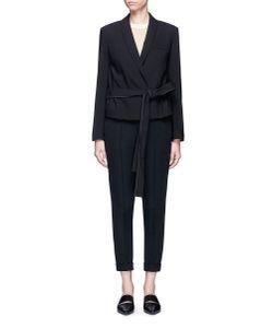 Helmut Lang   Belted Virgin Wool Gabardine Jacket