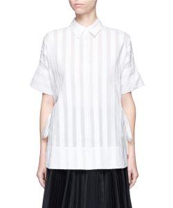 Emilio Pucci | Fil Coupé Stripe Cotton-Silk Shirt
