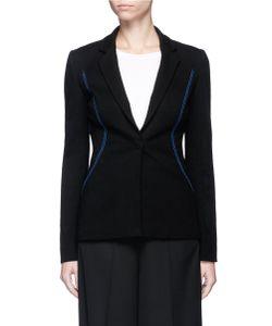 Emilio Pucci | Contrast Topstitch Stretch Suiting Jacket