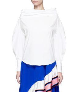 Emilio Pucci | Convertible Oversized Off-Shoulder Cotton Shirt