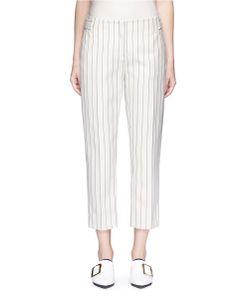 Victoria, Victoria Beckham | Stripe Calvary Twill Cropped Pants