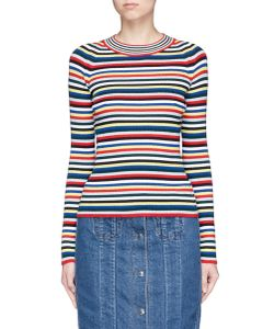 Rosetta Getty | Stripe Merino Wool Rib Knit Sweater