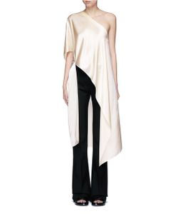 Rosetta Getty | Asymmetric Hem One-Shoulder Kaftan Top