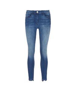 3X1   W3 Frayed Cuff Cropped Skinny Jeans