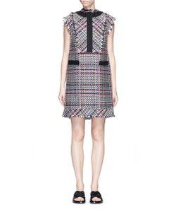 Sacai   Bib Panel Summer Tweed Dress
