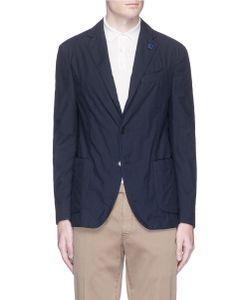 Lardini | Micro Gingham Check Soft Blazer