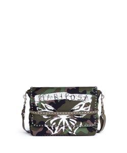 Valentino | Rockstud Butterfly Camouflage Print Messenger Bag