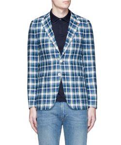 Isaia | Cortina Check Plaid Silk Blazer