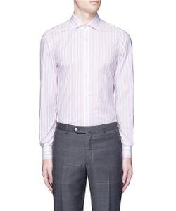 Isaia | Milano Stripe Woven Cotton Shirt