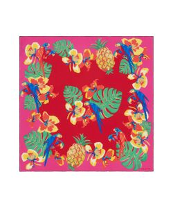 Valentino | Tropical Dream Print Silk Twill Scarf