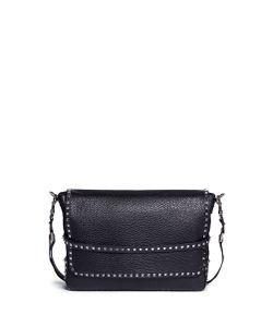 Valentino | Rockstud Leather Messenger Bag