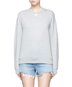T by Alexander Wang   Cotton Blend French Terry Sweatshirt