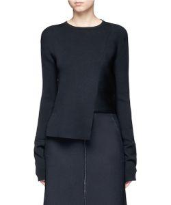 Tibi   Asymmetric Hem Rib Knit Sweater
