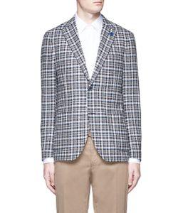 Lardini | Check Wool Blend Bouclé Soft Blazer