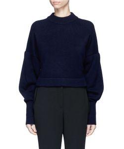 Tibi   Pleated Balloon Sleeve Cashmere Sweater