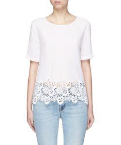 Equipment | Brynn Lace Hem Silk T-Shirt