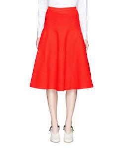 Victoria Beckham | Diagonal Stitch Knit Flute Hem Skirt