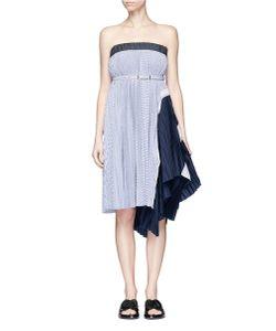 Sacai   Stripe Pleated Tube Dress