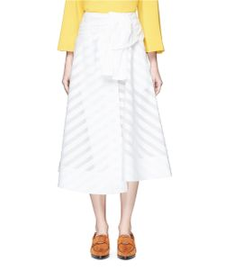 Emilio Pucci | Frayed Embroidered Stripe Wrap Skirt