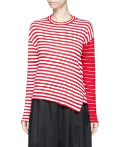 Ports | Stripe Contrast Sleeve Sweater