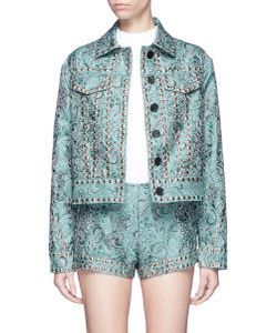 Jourden | Emerald China Stud Paisley Jacquard Trucker Jacket
