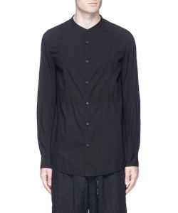 Ziggy Chen | Mandarin Collar Bib Front Shirt