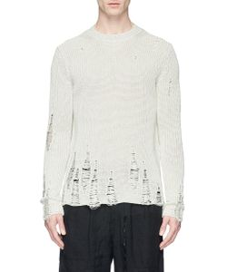 Song For The Mute | Distressed Cotton Straw Sweater