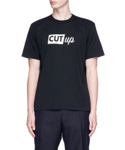 Sacai   Cut Up Print T-Shirt