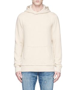 Denham | Crossing Raw Edge Cotton Hoodie