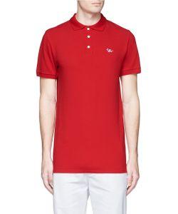 Maison Kitsuné | Fox Logo Appliqué Cotton Polo Shirt