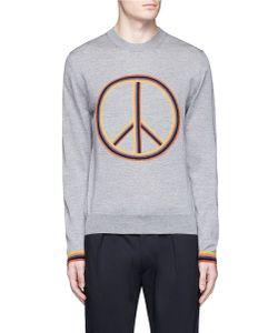 Paul Smith   Peace Sign Intarsia Merino Wool Sweater