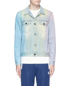 Palm Angels | Palm Tree Print Watercolour Denim Jacket