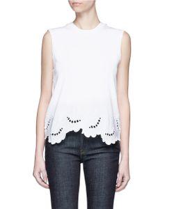 Victoria, Victoria Beckham | Delft Embroide Sleeveless T-Shirt