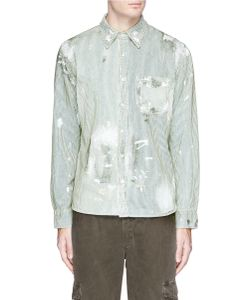 NSF | Axel Paint Spot Stripe Distressed Shirt