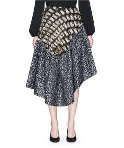 Jourden | Asymmetric Confetti Fil Coupé And Leopard Jacquard Skirt