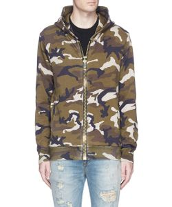 Palm Angels | Camouflage Print Maxi Puller Zip Hoodie