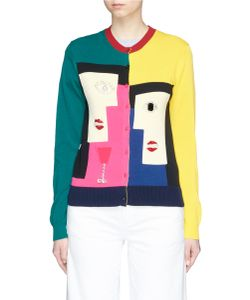 Muveil | Geometric Woman Face Embellished Cardigan