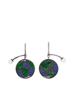 Astley Clarke | Earth Sapphire Freshwater Pearl 14k Drop Earrings