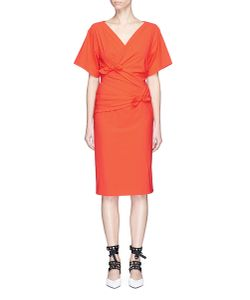 Emilio Pucci | Knotted Wrap Front Stretch Crepe Dress