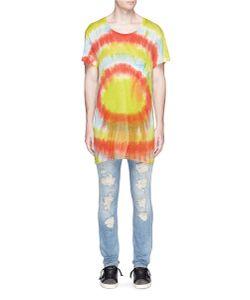 Faith Connexion   Tie Dye Slub Linen T-Shirt