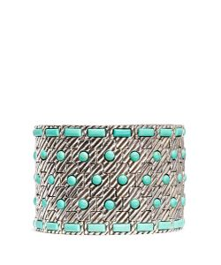 Philippe Audibert | Aomi Engraved Stripe Stone Elastic Bracelet