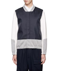 Tim Coppens | Contrast Colourblock Crinkled Bomber Jacket