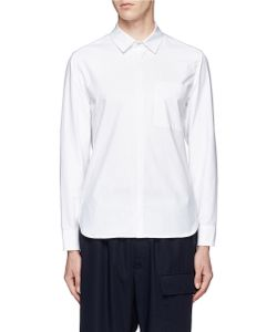 Tim Coppens | Extended Jersey Back Cotton Poplin Shirt