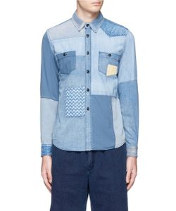 Fdmtl | 3yr Wash Patchwork Cotton Chambray Shirt