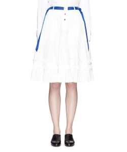 Angel Chen | Ribbon Appliqué Poplin Pleat Skirt