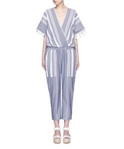 Koza | Merry Variegated Herringbone Stripe Jumpsuit