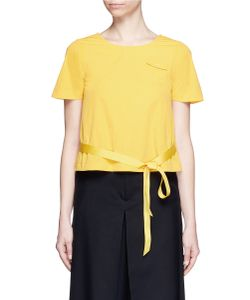 Angel Chen | Grosgrain Ribbon Wrap Back Top