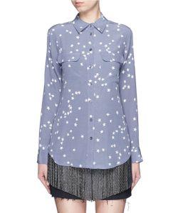 Equipment | Slim Signature Star Print Silk Shirt