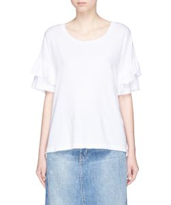 Current/Elliott | The Ruffle Roadie Tiered Sleeve T-Shirt