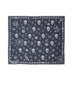 Alexander McQueen | Shipping News Marine Skull Print Silk Scarf
